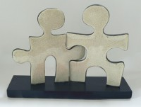 Puzzle People Two Person Sculpture